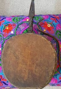 Ancient authentic double-sided Shamanic healing drum from Nepal